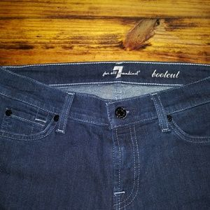 7 For All Man Kind jeans.  sz.7. Boot cut.